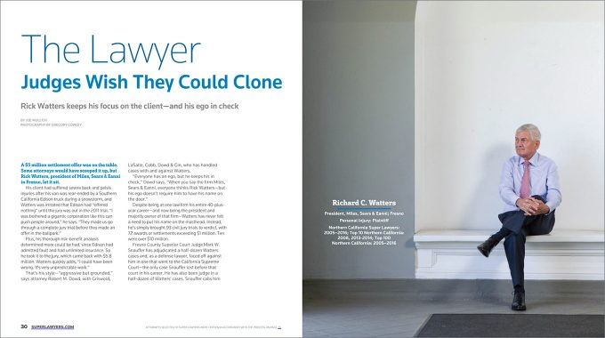 Prestigious Magazine Features MSE Attorney Richard C. Watters